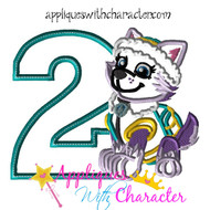 Paw Ever Pup Two  Applique