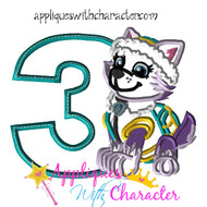 Paw Ever Pup Three  Applique