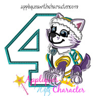 Paw Ever Pup Four Applique