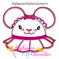 Lambie Mickey Mouse Head Applique Design