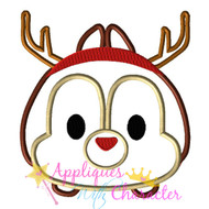 Christmas Chip Tsum Tsum Applique Design
