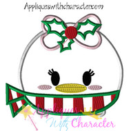Christmas Daisy Tsum Tsum Applique Design