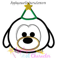 Christmas Goofy Tsum Tsum Applique Design