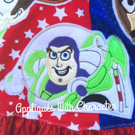 Buzz Toy Applique Design