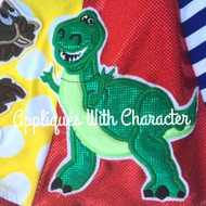 Rex Dinosaur Toy Applique Design