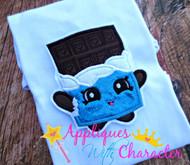 Shopikins Cheeky Chocolate Applique Design
