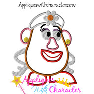 Mrs. Potato Head Toy Applique Design