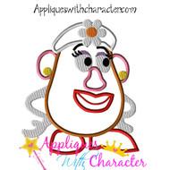 Mrs. Potato Head Toy Applique Design