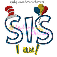 Doctor Seuss SIS I Am Applique Design