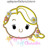 Rapunzel Tsum Tsum Applique Design