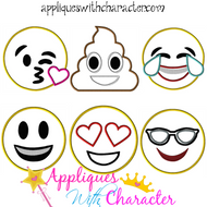 Emoji 6 Applique Design Set