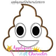 Poop Emoji Applique Design
