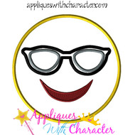 Sunglasses Emoji Applique Design