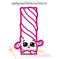 Shopikins Licorice Applique Design