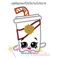 Shopikins Soda Pop Applique Design
