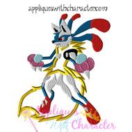 Lucario Pokemon Applique Design