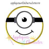 Minion Face Applique Design