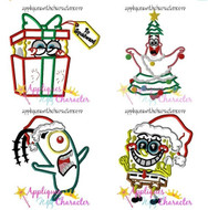 Spongebob Christmas Applique Design Set