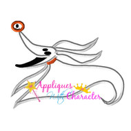 Zero Nightmare Before Christmas Applique Design