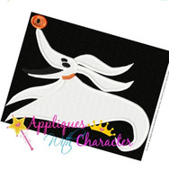 Zero FILLED Nightmare Before Christmas Embroidery Design