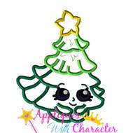 Shopikins Christmas Tree Applique Design