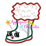 Shopikins Christmas Boot Applique Design