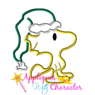 Peanuts Christmas Woodstock Applique Design
