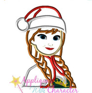 Anna Frozen Christmas Applique Design