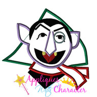 Christmas Count Dracula Applique Design