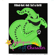 Oogie Nightmare Before Christmas Filled Embroidery Design