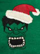 Christmas Hulk Applique Design