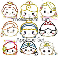 Disney Princesses Tsum Tsum Applique Set