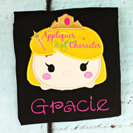 Sleeping Beauty Tsum Tsum Applique Design