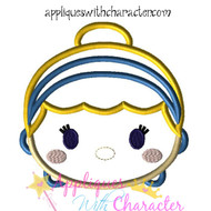 Cinderella Tsum Tsum Applique Design