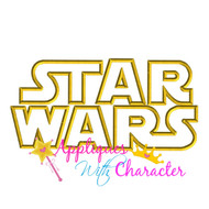 Star Wars Logo Applique Design