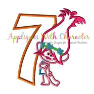 Poppy Troll Seven Applique Design