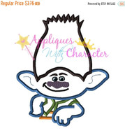 Troll Movie Brench Applique Embroidery Machine Design