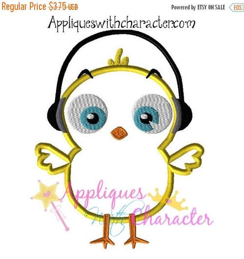 Rock Chick Applique Design Embroidery Machine
