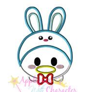 Donild Duck Easter Bunny Tsum Tsum Applique Design