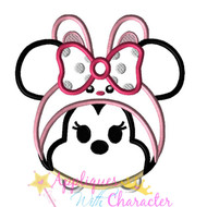 Minny Mouse Easter Bunny Tsum Tsum Applique Design