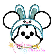 Mickie Mouse Easter Bunny Tsum Tsum Applique Design