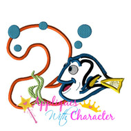 Dory TWO Applique Embroidery Machine Design