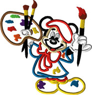 Mickey Animators Palate Applique Design