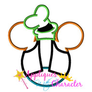 Goofie Mickey Head Applique Design