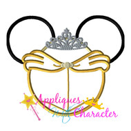 Bella Mickey Head Applique Design