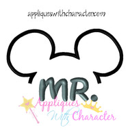MR Mister Mickie Groom Applique Design