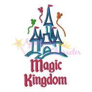 Disney Inspired Magic Kingdom Castle Applique Design