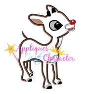 Rudolph Reindeer Applique Design