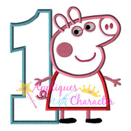 Pepper Pig ONE Applique Design
