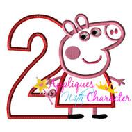 AWC Pepper Pig TWO Applique Design